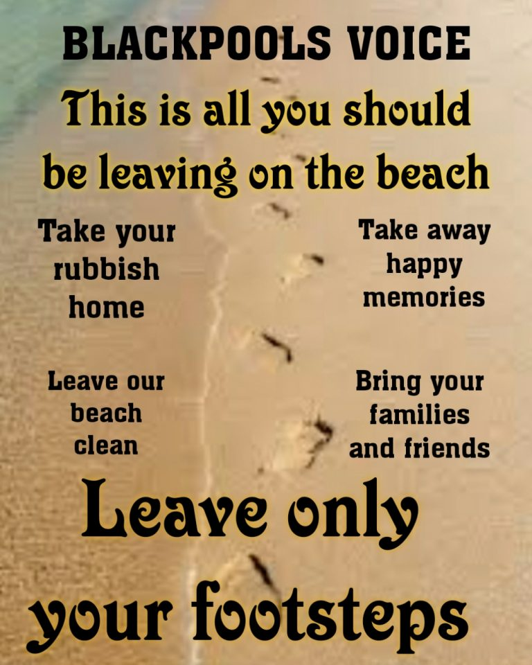 Leave only footprints on our coastline. Competition Time too.